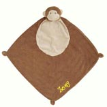 Angel Dear Monkey Blankie with Monogram
