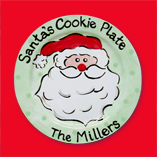 Santa Cookie Plate-Small